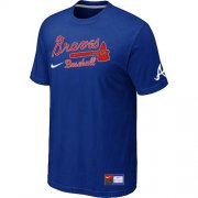 Wholesale Cheap Atlanta Braves Nike Short Sleeve Practice MLB T-Shirt Blue