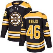 Wholesale Cheap Adidas Bruins #46 David Krejci Black Home Authentic Stanley Cup Final Bound Stitched NHL Jersey