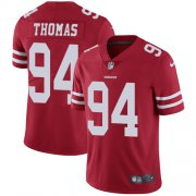 Wholesale Cheap Nike 49ers #94 Solomon Thomas Red Team Color Men's Stitched NFL Vapor Untouchable Limited Jersey