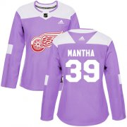 Wholesale Cheap Adidas Red Wings #39 Anthony Mantha Purple Authentic Fights Cancer Women's Stitched NHL Jersey