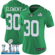 Wholesale Cheap Nike Eagles #30 Corey Clement Green Super Bowl LII Women's Stitched NFL Limited Rush Jersey