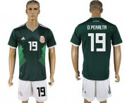 Wholesale Cheap Mexico #19 O.Peralta Green Home Soccer Country Jersey