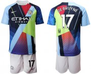 Wholesale Cheap Manchester City #17 De Bruyne Nike Cooperation 6th Anniversary Celebration Soccer Club Jersey