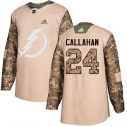 Wholesale Cheap Adidas Lightning #24 Ryan Callahan Camo Authentic 2017 Veterans Day Stitched Youth NHL Jersey
