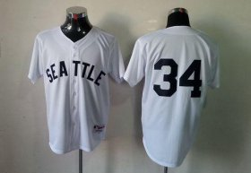 Wholesale Cheap Mariners #34 Felix Hernandez White 1909 Turn Back The Clock Stitched MLB Jersey