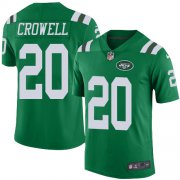 Wholesale Cheap Nike Jets #20 Isaiah Crowell Green Men's Stitched NFL Elite Rush Jersey