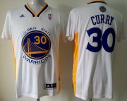 Wholesale Cheap Golden State Warriors #30 Stephen Curry Revolution 30 Swingman White Short-Sleeved Jersey