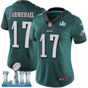 Wholesale Cheap Nike Eagles #17 Harold Carmichael Midnight Green Team Color Super Bowl LII Women's Stitched NFL Vapor Untouchable Limited Jersey