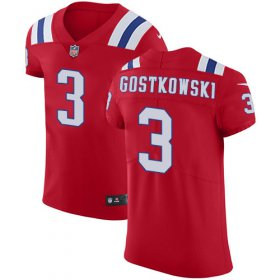 Wholesale Cheap Nike Patriots #3 Stephen Gostkowski Red Alternate Men\'s Stitched NFL Vapor Untouchable Elite Jersey