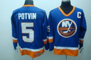 Wholesale Cheap Islanders #5 Denis Potvin Stitched Baby Blue CCM Throwback NHL Jersey