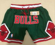 Wholesale Cheap Men's Chicago Bulls Green 2008-09 Swingman Just Don Shorts
