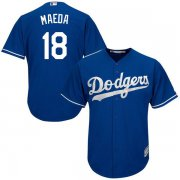 Wholesale Cheap Dodgers #18 Kenta Maeda Blue Cool Base Stitched Youth MLB Jersey