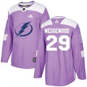 Cheap Adidas Lightning #29 Scott Wedgewood Purple Authentic Fights Cancer Stitched NHL Jersey