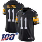 Wholesale Cheap Nike Steelers #11 Chase Claypool Black Alternate Youth Stitched NFL 100th Season Vapor Untouchable Limited Jersey