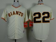 Wholesale Cheap Giants #22 Will Clark Cream Home Cool Base Stitched MLB Jersey