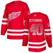 Wholesale Cheap Adidas Red Wings #40 Henrik Zetterberg Red Home Authentic Drift Fashion Stitched NHL Jersey