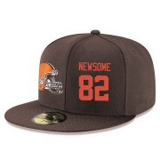 Wholesale Cheap Cleveland Browns #82 Ozzie Newsome Snapback Cap NFL Player Brown with Orange Number Stitched Hat