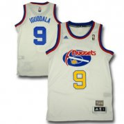Wholesale Cheap Denver Nuggets #9 Andre Iguodala ABA Hardwood Classic Swingman White Jersey