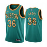 Wholesale Cheap Nike Celtics #36 Marcus Smart Green 2019-20 City Edition NBA Jersey