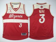 Wholesale Cheap Men's Washington Wizards #3 Bradley Beal Revolution 30 Swingman 2015 Christmas Day Red Jersey