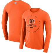 Wholesale Cheap Cincinnati Bengals Nike Property Of Sideline Performance Long Sleeve T-Shirt Orange