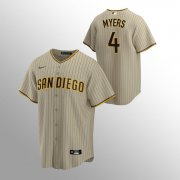 Wholesale Cheap Men's San Diego Padres #4 Wil Myers Sand Brown Nike 2020 Replica Alternate Jersey