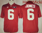Wholesale Cheap Men's Alabama Crimson Tide #6 Laurence Hootie Jones Red 2016 BCS College Football Nike Limited Jersey
