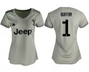 Wholesale Cheap Women's Juventus #1 Buffon Away Soccer Club Jersey