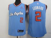 Wholesale Cheap Clippers 2 Kawhi Leonard Light Blue Nike Swingman Jersey