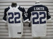 Wholesale Cheap Nike Cowboys #22 Emmitt Smith White Thanksgiving Throwback Men's Stitched NFL Elite Jersey