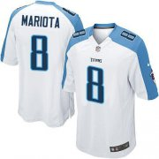 Wholesale Nike Titans #8 Marcus Mariota White Youth Stitched NFL Elite Jersey