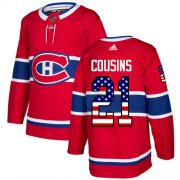 Wholesale Cheap Adidas Canadiens #21 Nick Cousins Red Home Authentic USA Flag Stitched NHL Jersey