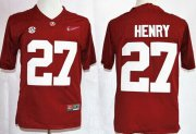 Wholesale Cheap Alabama Crimson Tide #27 Derrick Henry 2015 Playoff Rose Bowl Special Event Diamond Quest Red Jersey
