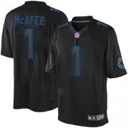 Wholesale Cheap Nike Colts #1 Pat McAfee Black Men's Stitched NFL Impact Limited Jersey