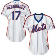 Wholesale Cheap Mets #17 Keith Hernandez White(Blue Strip) Alternate Women's Stitched MLB Jersey