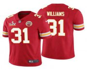 Wholesale Cheap Men's Kansas City Chiefs #31 Darrel Williams Red 2021 Super Bowl LV Limited Stitched NFL Jersey