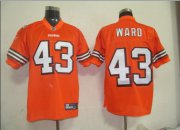 Wholesale Cheap Browns #43 T.J. Ward Orange Stitched NFL Jersey