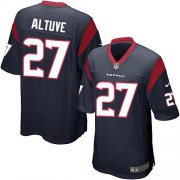 Wholesale Cheap Nike Texans #27 Jose Altuve Navy Blue Team Color Youth Stitched NFL Elite Jersey