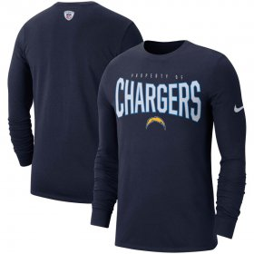 Wholesale Cheap Los Angeles Chargers Nike Sideline Property Of Performance Long Sleeve T-Shirt Navy