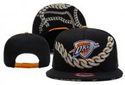 Wholesale Cheap NBA Oklahoma City Thunder Snapback Ajustable Cap Hat XDF 007