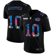 Cheap San Francisco 49ers #10 Jimmy Garoppolo Men's Nike Multi-Color Black 2020 NFL Crucial Catch Vapor Untouchable Limited Jersey
