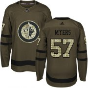Wholesale Cheap Adidas Jets #57 Tyler Myers Green Salute to Service Stitched Youth NHL Jersey