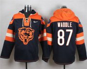Wholesale Cheap Nike Bears #87 Tom Waddle Navy Blue Player Pullover NFL Hoodie
