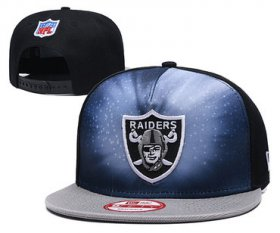 Wholesale Cheap Raiders Team Logo Black Gray Adjustable Hat GS