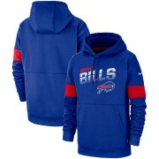Wholesale Cheap Buffalo Bills Nike Sideline Team Logo Performance Pullover Hoodie Royal