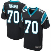 Wholesale Cheap Nike Panthers #70 Trai Turner Black Team Color Men's Stitched NFL Elite Jersey