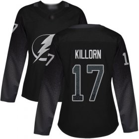 Cheap Adidas Lightning #17 Alex Killorn Black Alternate Authentic Women\'s Stitched NHL Jersey