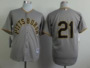 Wholesale Cheap Pirates #21 Roberto Clemente Grey 1953 Turn Back The Clock Stitched MLB Jersey
