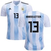 Wholesale Cheap Argentina #13 Kranevitter Home Soccer Country Jersey