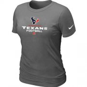 Wholesale Cheap Women's Nike Houston Texans Critical Victory NFL T-Shirt Dark Grey